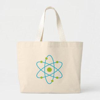 Átomo de la ciencia bolsa tela grande