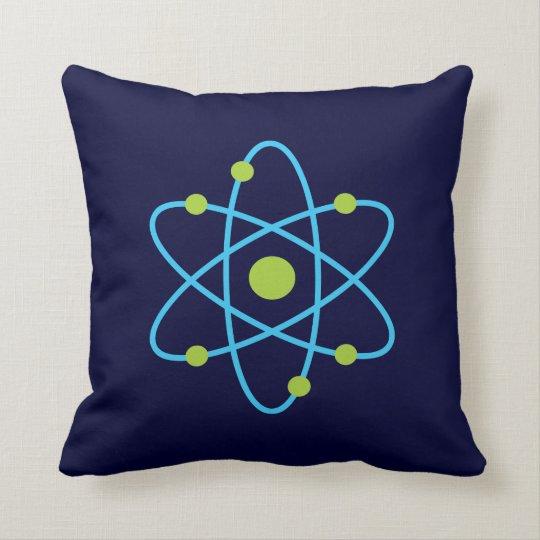 Átomo de la ciencia cojín decorativo