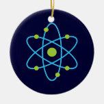 Átomo de la ciencia ornamento para arbol de navidad