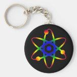 átomo de la ciencia llavero personalizado