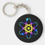 átomo de la ciencia llaveros personalizados