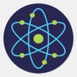 Átomo de la ciencia pegatina redonda