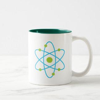 Átomo de la ciencia taza de dos tonos