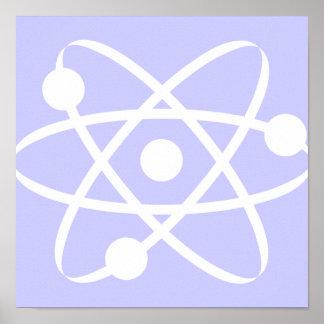 Átomo del azul de la lavanda impresiones