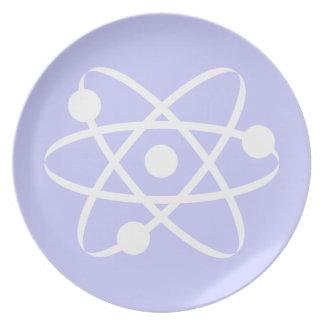 Átomo del azul de la lavanda platos para fiestas