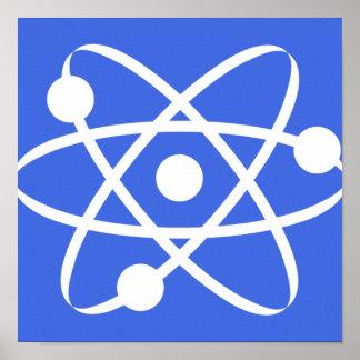 Átomo del azul real impresiones