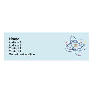 Átomo - flaco tarjetas de visita mini