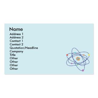 Átomo - negocio tarjetas de visita