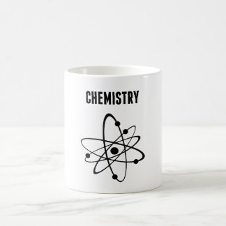 Átomo para la química taza