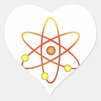 Átomo Pegatina En Forma De Corazón