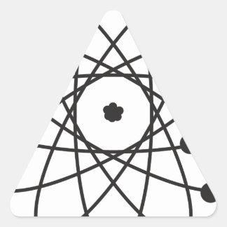 Átomo Pegatina Triangular