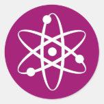 átomo pegatinas redondas