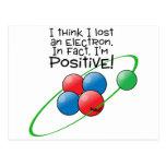 Átomo positivo tarjeta postal