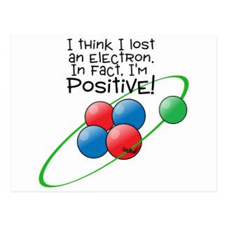 Átomo positivo tarjetas postales