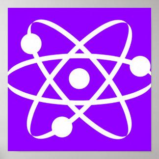 Átomo púrpura violeta poster