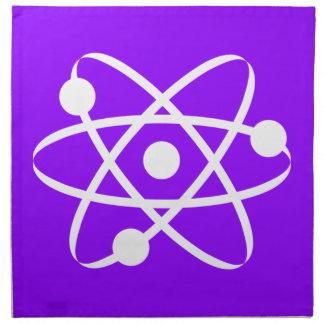 Átomo púrpura violeta servilleta imprimida