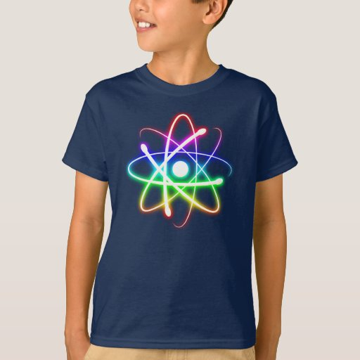 Átomo que brilla intensamente colorido el | camisas
