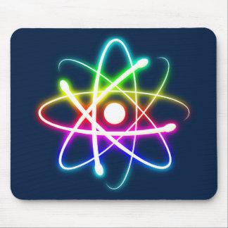 Átomo que brilla intensamente colorido - mousepad