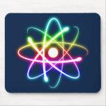 Átomo que brilla intensamente colorido - mousepad  tapetes de ratón