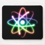 Átomo que brilla intensamente colorido - mousepad tapetes de ratones
