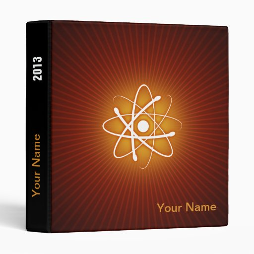 Átomo que brilla intensamente rojo - carpeta única
