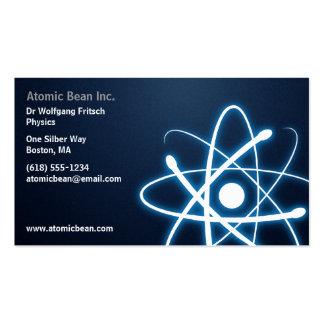 Átomo - tarjeta de visita azul del científico