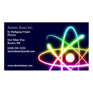 Átomo - tarjeta de visita del científico