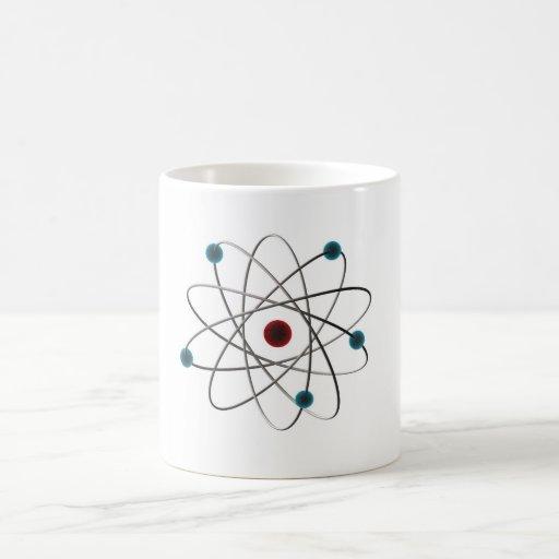 átomo taza básica blanca