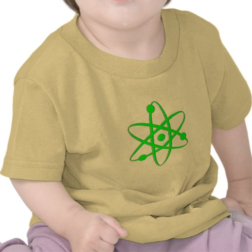 átomo verde claro camisetas