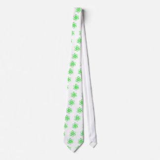 átomo verde claro corbata personalizada
