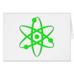 átomo verde claro felicitacion