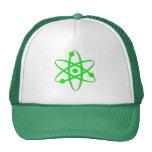 átomo verde claro gorros bordados