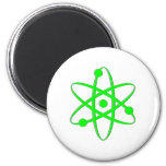 átomo verde claro iman de frigorífico