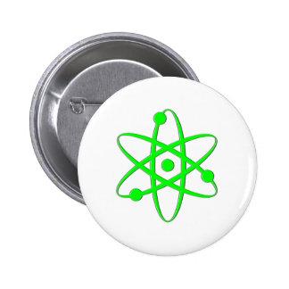 átomo verde claro pin