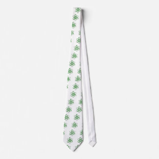 átomo verde oscuro corbatas