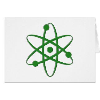 átomo verde oscuro tarjetas
