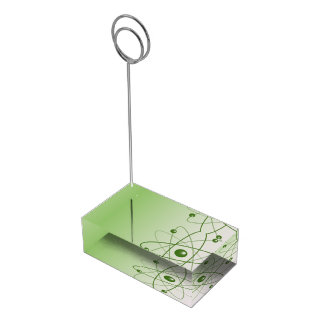 Átomo verde soporte para tarjeta de mesa