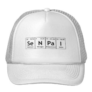 Átomos de la química de la palabra del elemento de gorros bordados