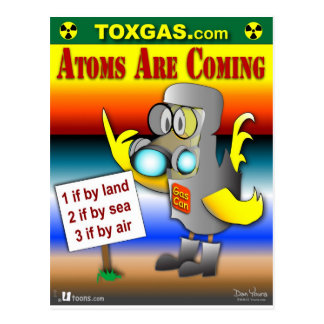 Atoms are coming! postcard