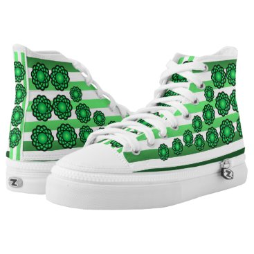 Beach Themed Atoms ~ Beach Party Time ~ Music ~ Swimming ~ High-Top Sneakers