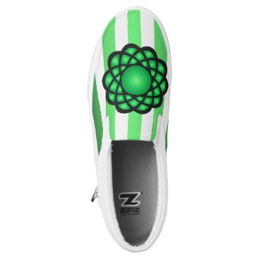Beach Themed Atoms ~ Beach Party Time ~ Music ~ Swimming ~ Slip-On Sneakers