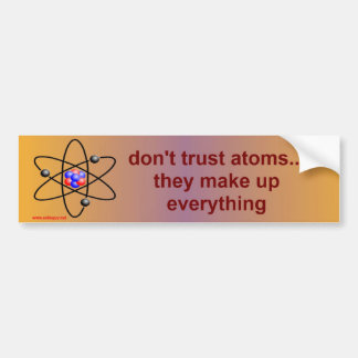 atoms bumper sticker