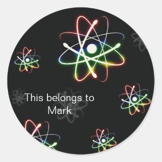 Atoms Classic Round Sticker