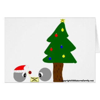 atoms cup design christmas, copyright2006atomsf... cards