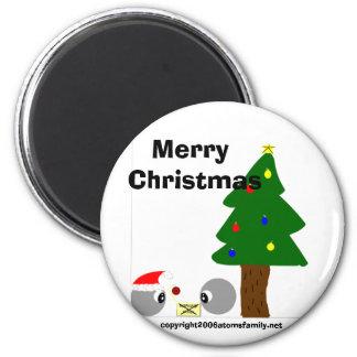 atoms cup design christmas, Merry Christmas, co... Refrigerator Magnet