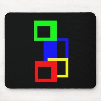 Atoms - Square? Mouse Pad