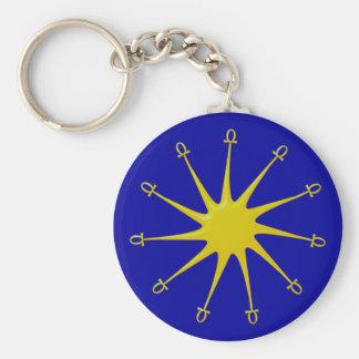 Aton Basic Round Button Keychain