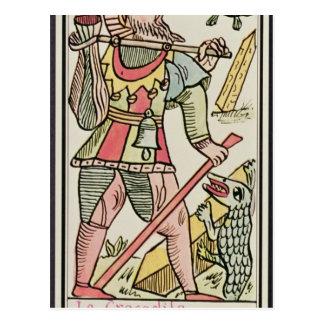 Atonement, tarot card, French Postcard