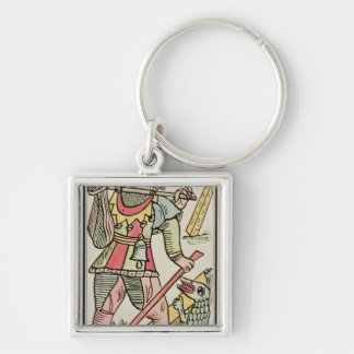 Atonement, tarot card, French Silver-Colored Square Keychain