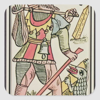 Atonement, tarot card, French Square Sticker